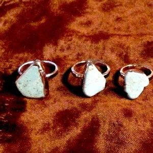 Silver fashion rings with turquoise!